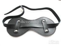 Wholesale BDSM Leather Sex Sleep Eye Mask Blindfold Sexy Eyemask Adult Sex Toy Products Bondage YTJ769