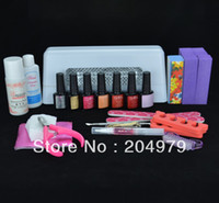 Wholesale Colors Available Nail Art Pro DIY Full Set Led C Uv Gel Polish Manicure Kit Set tools uv Lamp U010