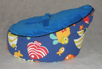 Wholesale fish blue baby bean bag baby bean bag bed baby bean bag chair domoo seat