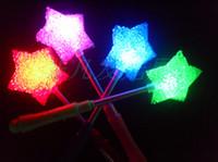 Wholesale LED Glow Star Wand Mixed Rose Heart Shaped Stick Flashing Light Concert Party novelty items led toy toys