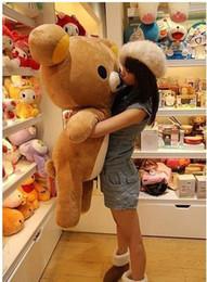 Wholesale Details about San x Rilakkuma Relax Bear Soft cm Pillow Plush Cute Doll Toy cotton