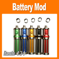 Electronic Cigarette Battery Black Itaste 134 electronic cigarette stainless steel mechanical Mod bttery body for CE4 CE5 CE6 VIVI NOVA atomizer colorful (0207009)