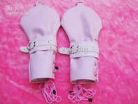 Wholesale Female PU Dog Palm Gloves BDSM Hand Wear SM Bondage Sex Toy Adult Product Pink YTJ1110