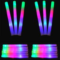 Bon Marché Conduit mousse bâton clignotant-LED Coloré barres led mousse stick clignote mousse de bâton, de la lumière en liesse lueur de la mousse de bâton mousse led EMS