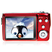 Wholesale HD Digital Camera MP inch TFT X Optical Zoom Face Tracking Anti shake Telescopic lens Built in Flash Red E9020C