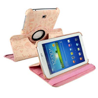 Wholesale S5Q Rotating PU Leather Stand Case Cover For Samsung Galaxy Tab Tablet P3200 AAACFI