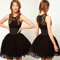 Wholesale Details about Fashion Sexy Black Clubbing Princess Tutu Dress Cocktail Lace Slim Party Dress