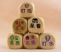 Wholesale 38 Large cm wood dice bosons water