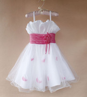 TuTu Summer Pleated Baby Girl Dress 2014 New Fashion Children High-grade Big Bowknot Princess Veil Wedding Flower Girl Tutu Dress Children Summer Clothing A-292