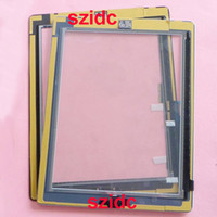Wholesale 20pcs New Black White Touch Screen Digitizer Assembly With Home Button Adhesive Sticker For iPad Replacement Parts Free DHL EMS