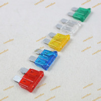 Red Blue Yellow Clear Green auto fuse set - 100pcs Mini Fuses Set Kit ATO ATC ATM Blade Fuse Car Auto Truck Motorcycle Caravan Boat Fuse Holder
