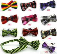 Wholesale Mens Bowtie Bow Ties Pre tied Adjustable Stripe Plaid Neck Bow Tie Fashion Accessories MOQ