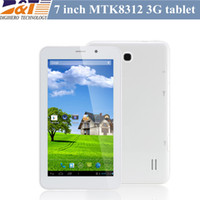 Wholesale Cheap inch G Phone Call MTK8312 Dual core with Dual SIM Bluetooth GPS Android mb g capacitive Screen tablet pc