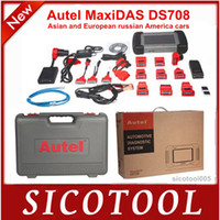 Wholesale MaxidasDS708 professional universal auto diagnostic scanner English Spanish French and German language for choosing