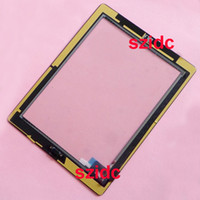 Wholesale New Black White Touch Screen Digitizer Assembly With Home Button Adhesive Sticker For iPad nd Replacement Parts Free DHL EMS