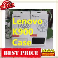 For Chinese Brand Leather White Hot Sale Mobile Cases suit for Lenovo K900 Leather Case Original Black white Lenovo K900 Case Gift Screen Protector 1pcs Free Shipping