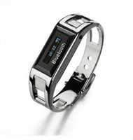CID For Blackberry Wristwatches 2013 hot selling special design Bluetooth vibrating bracelet watch Clock with call ID & proximity alert Steel free ship