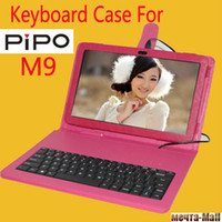 7'' For Apple For Ipad 2/3 Capacitive pen+ Special Leather keyboard Case for pipo m9, pipo m9 3g keyboard case good quality Free Shipping ,Drop Shipper