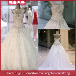 Wholesale 2014 Extravagant Garden Wedding Gowns With Lace Up And Heavy Beaded Body SA BD
