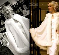 Faux fur jackets Цены-2014 Потрясающие Люкс Мысы Кот Свадебное куртка из искусственного меха идеально подходит для зимы свадьбы платье Свинг Coat Абая