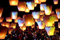 Round No No New Year Wishing Light SKY Balloon Kongming Lanterns Wishing Kingming Light Chinese Kongming Paper Lanterns