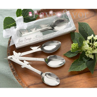 Wholesale quot Love Songs quot Birds Style Stainless Steel Measuring Spoon Wedding Favors Party Favors Bridal Shower