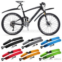 Wholesale Bicycle Front amp Rear Tire Mudguards Mountain Bike Fender Mud Guards Set cx35 Freeshipping