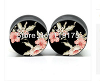 Wholesale smbj121905 high quality UV acrylic ear gauge plug body tunnel piercing jewelry pair