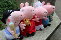 Unisex 3-4 Years Anime & Comics Kids Peppa Pig Toys Toddler Baby Stuffed Plush Toys Child Boys Girls Doll Height 25cm Best Quality 10pcs lot Mix Style QZ409