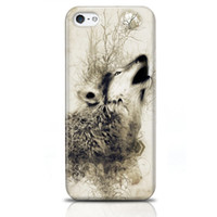 Wholesale Cases for Iphone S S A Cool Wolf Bellowing Hard Phone Covers Refind Stylish High Quality Phone Cases Retail Packing Phone Bumpers
