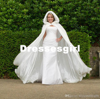 Wholesale 2014 Winter Bridal Cape Faux Fur Wedding Cloaks Hooded Perfect For Winter Wedding Bridal Cloaks