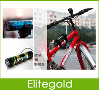 Wholesale Dual Flying wheel Bicycle Speaker Sport Music MP3 Player On Bike Support FM TF card Cell Phone mah battery Long time play