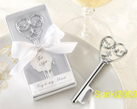 Wholesale New Arrival Free via EMS DHL wedding gift small gift love key alloy bottle opener