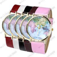 antique maps - NEW Vintage Colorful Women s Casual Antique World Global Map Quartz Wrist Watch MYY7977