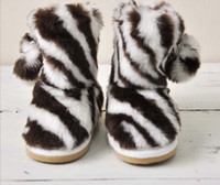 Wholesale Factory Order High Quality Children s Boots Zebra Fashion Small Kids Cotton Shoes Toddler Boys Girls Boot Baby Shoes QZ414