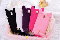 For Samsung Silicone White Cute Cat Fur Tail Soft Silicone Case Back Skin Cover 5 Colors For Samsung Galaxy Note III Note3 N9000 10pcs 5pcs