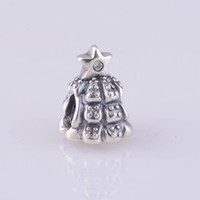 Wholesale Authentic ALE Sterling Silver Tree of Lights Christmas Bead with Clear Zirconia Fits European Pandora Jewelry Charm Bracelets