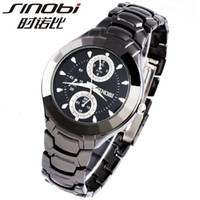 Unisex Water Resistant Round New style SINOBI couple watch,High Quality Japan Movements with stainless steel band, Men & Women Wrist Watch