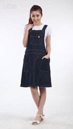 Wholesale Maternity clothing water wash denim casual maternity dress braces skirt baby dress MY