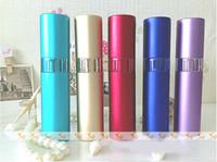 Metal aluminum bulk - Top Quality ml Glass Scent Bottles Perfume Atomizer Bulk Perfume Bottles with Aluminum Cover ZH1249