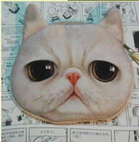Wholesale Newest Cute D cat cathead purse meow star people coin key bag cats cartoon animal handbag wallets holders cards bags gift for children