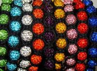 Wholesale New mm mixed micro pave cz Disco disco Ball Beads Cross Bangles OMN Women Crystal Shamballa Bracelet jewelry