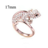 Wholesale Exaggerated Punk Gecko Rings Made with Bling Bling Rhinestone Personalized Animal Rings Popular in Europe R020