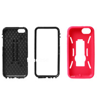 For Apple iPhone Plastic For Christmas 3 in 1 Robot Impact Hybrid Silicone+PC Soft Stand Support Holder Hard Back Cover Case For iphone 5C Free Shipping DHL 500pcs lot