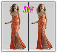 Wholesale Sexy Fashion Lace Sweetheart Beadings Zipper Mermaid Front Side slit Long Prom Dress Evening Gowns New Arrivals