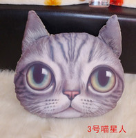 Plush Fabric Cotton cathead Newest 3D cathead cushion meow star people soft plush animal cartoon cat hold pillow cushions home decoration children's toy Christmas Gift
