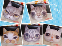 Plush Fabric Cotton cathead Hotsell 3D cathead cushion meow star people soft plush animal cartoon cat hold pillow cushions home decoration children's toy Christmas Gift