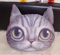 Wholesale 3D cathead cushion meow star people soft plush animal cartoon cat hold pillow cushions home decoration children s toy Christmas Gift best