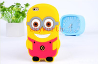 Wholesale 3D Despicable Me Cartoon soft silicone gel rubber case For ipod touch itouch cases more minions skin cover