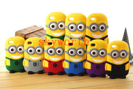 Wholesale Cute Cartoon D Despicable Me Soft Silicone Case Cover Skin for ipod touch Smile Big Eye Lovely more Minions M2